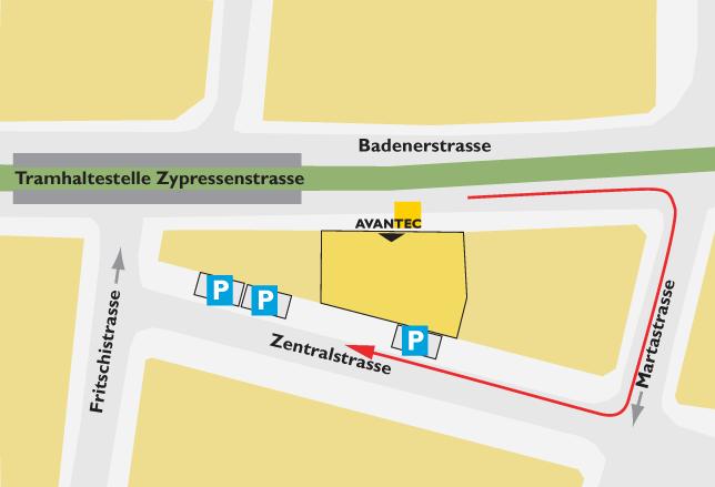 Parkplatz AVANTEC