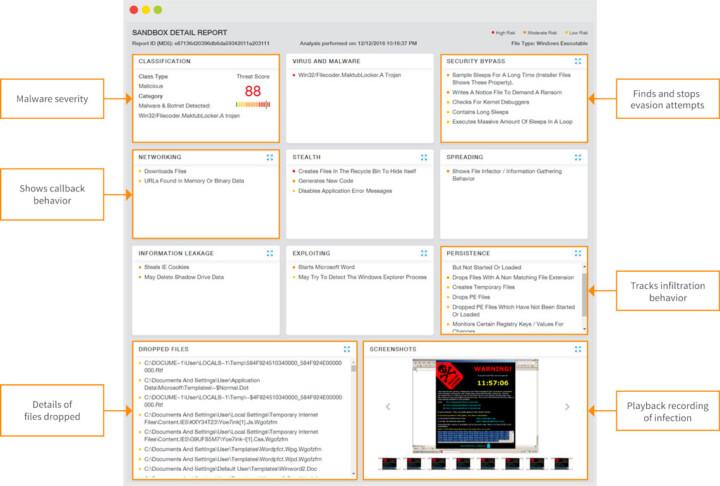 Zscaler Cloud Sandbox Report Beispiel