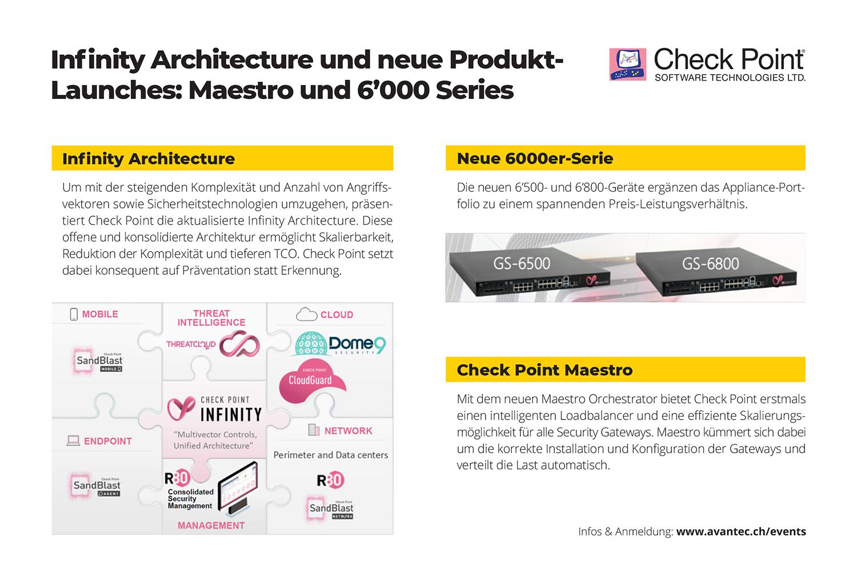 Infinity Architecture und neue Produkt-Launches