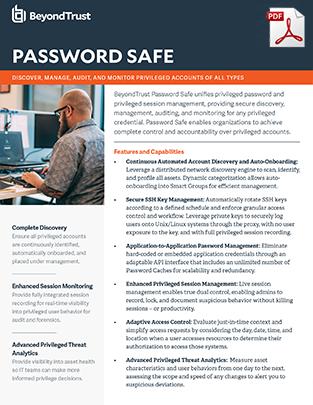 BeyondTrust Password Safe Datasheet Web Picture