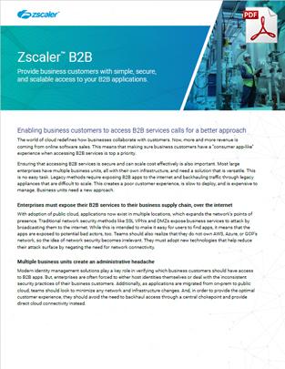 Zscaler B2B Applikationszugriff Datasheet