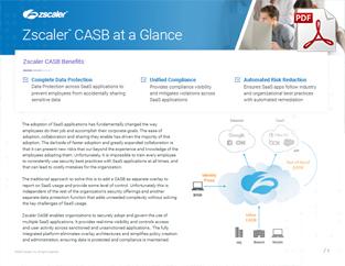 Zscaler CASB Datasheet