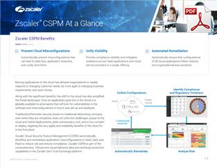 Zscaler Cloud Security Posture Management Datasheet