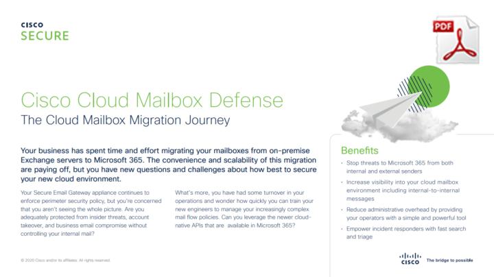 Cisco Cloud Mailbox Defense Datasheet