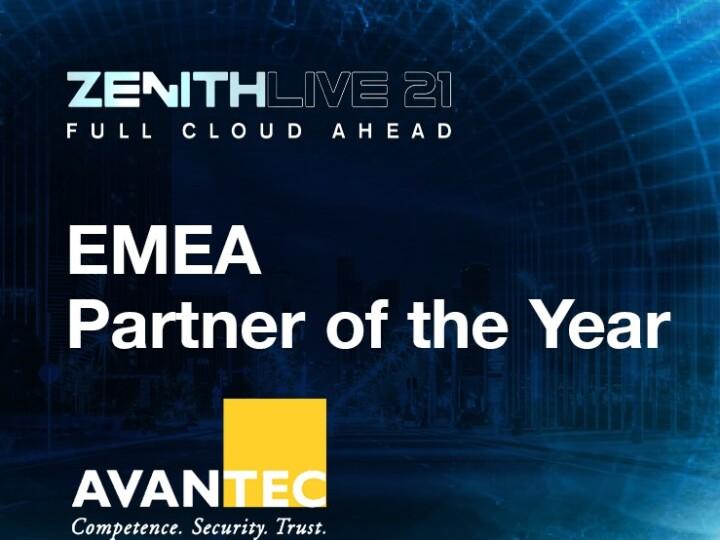 AVANTEC ist Zscaler EMEA Partner of the Year 2021