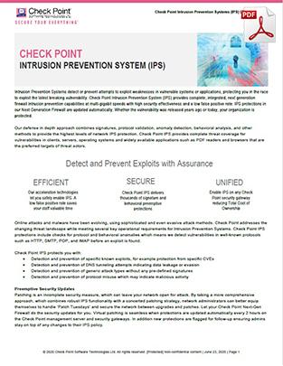 check-point-ips-datasheet
