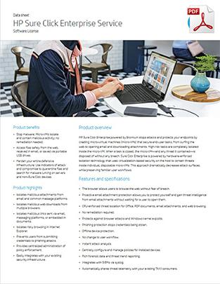 HP Sure Click Enterprise Datasheet