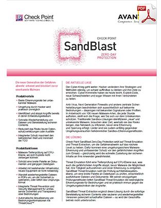 sandblast-datasheet